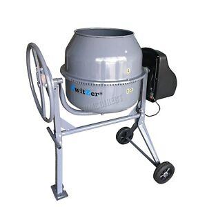 Switzer-Electric-Cement-Mixer-Portable-Mortar-Plaster-Concrete-Drum-650W-140L