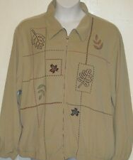 ALFRED DUNNER misses plus 24W fall leaf autumn jacket b4