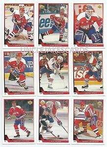 1993-94-UPPER-DECK-WASHINGTON-CAPITALS-Select-from-LIST-SERIES-2-HOCKEY-CARDS