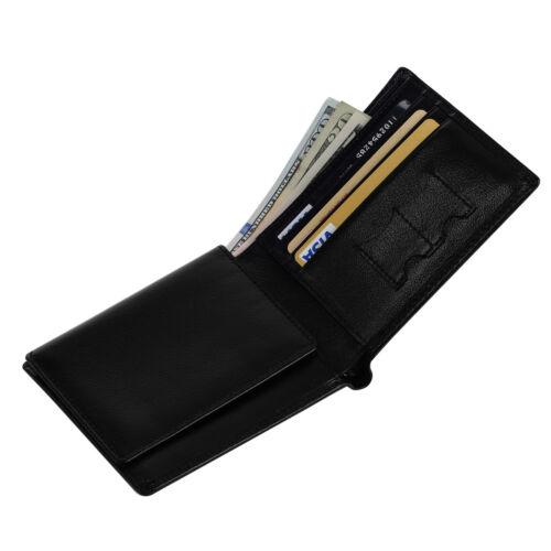 Men Guy RFID Blocking Protector Cowhide Wallet Card Purse ID Wallet Bifold Black