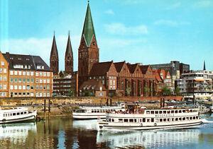 Bremen-Weserschiffsanleger-mit-Martinikirche-und-Blick-zum-Dom-ca-1980