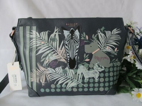 Navy Palms Radley Leather Bnwt Bag Longleat Body Cross Fqwwt15