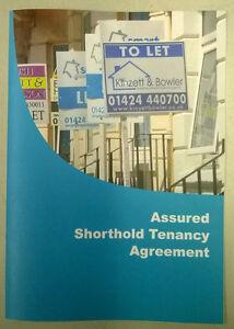 Assured Shorthold Tenancy Agreement Pack Ebay