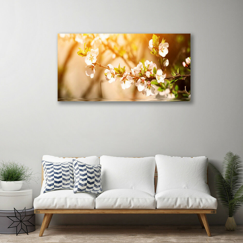 Canvas Canvas Canvas print Wall art on 100x50 Image Picture Flowers Floral 569361