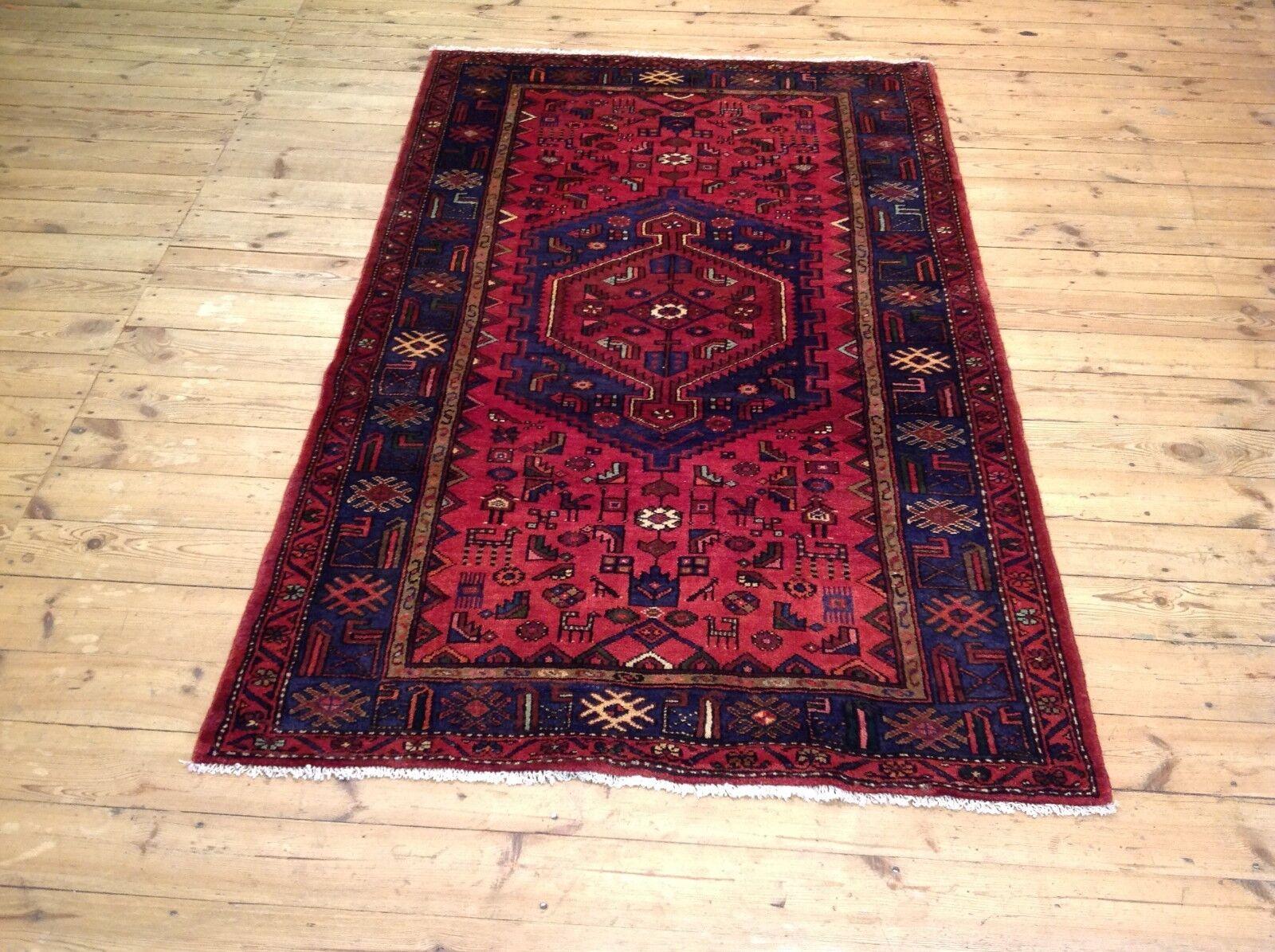 Meraviglioso tappeto orientale HAMEDAN (225 x 138 cm) Tapis persan Top Nuovo