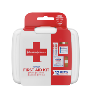 JOHNSON & JOHNSON First Aid To Go Kit, 12 Items