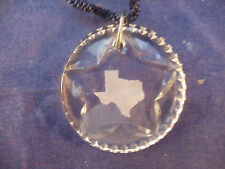 """2"""" waterford pendant with lone star and frosted texas / also ornament with cord"""