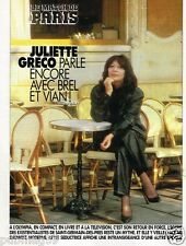 Coupure de Presse Clipping 1991 (3 pages) Juliette Greco