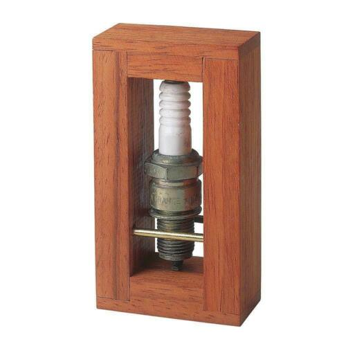 "Spark Plug Get Charged Brainteaser Puzzle Wood Metal 4/"" H"