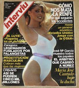 Detalles De Interviu 190 1980 Maria José Cantudo Desnuda El Lute Spain Mens Magazine Nudes