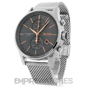 NEW  MENS HUGO BOSS JET CHRONOGRAPH ROSE GOLD WATCH - 1513440 - RRP ... 6387b3c92f59