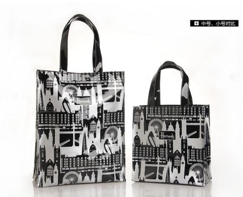 Details about  /Women  PVC Waterproof Shopping Storage Harrods London Shoulder Bag Handbags