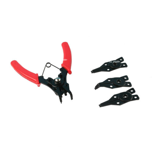 4 in 1 Snap Ring Pliers Plier Set Circlip Combination Retaining Clip Tool Red