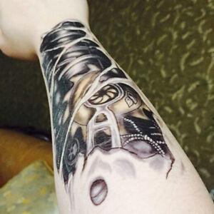 Body-Art-Men-3D-Tattoo-Robot-Arm-Waterproof-Temporary-Tattoo-Sticker-Hot