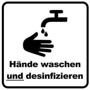 Aufkleber-Hinweis-034-Haende-waschen-amp-desinfizieren-034-f-Toilette-WC-Wunschfarbe-5