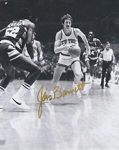 Jim Burnett NEW YORK KNICKS Signed 8x10 Photo J3 COA GFA