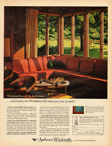 Image Is Loading 1963 Vintage AD ANDERSEN WINDOWALLS Home Decor Re