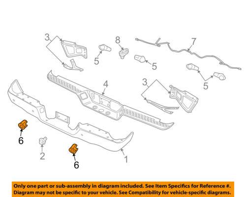Ram CHRYSLER OEM 17-18 3500 Rear Bumper-Park Sensor Bezel 1JK80ZZZAA