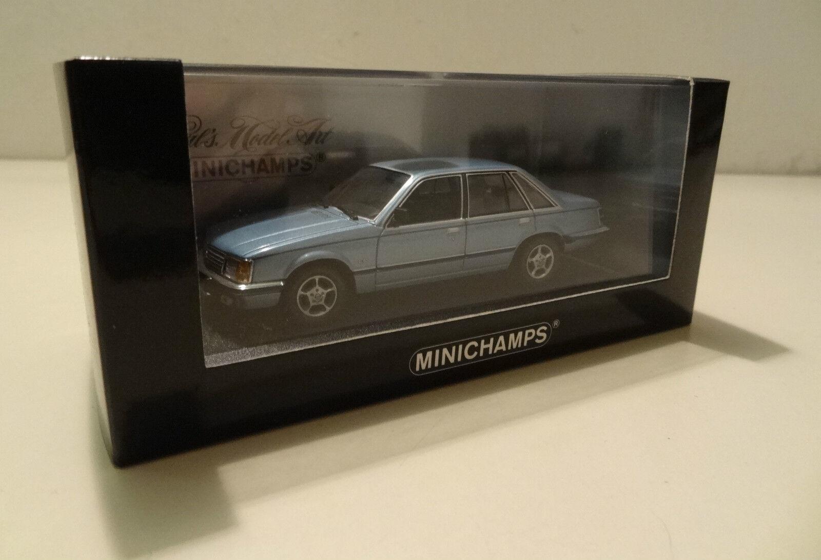 Opel Senator 3,0 E CD CD CD - 1980 bluee met.  -Minichamps 1 43  1b0265