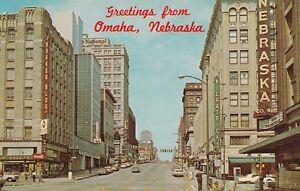 X-Omaha-NE-Greetings-From-Street-Scene-on-Farnam-Looking-West
