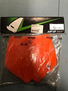 UFO Plastics Front Number Plate  Orange KT04008-127*