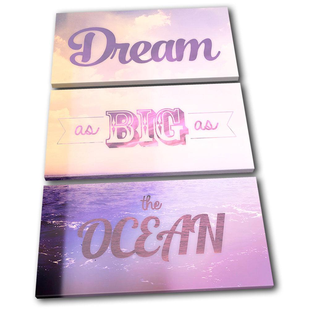 Dream Vintage  Typography TREBLE arte LONA pared arte TREBLE Foto impresion 9ed2f8