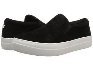 Steve-Madden-Women-039-s-Gills-Slip-On-Sneaker-Black-Suede