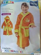 lupilu Kinder Bademantel - Farbe Gelb/Orange - Größe 122/128 - NEU