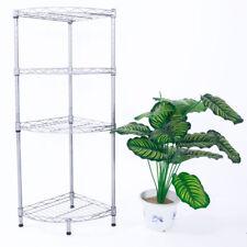 4 Tier Corner Shelf Rack Kitchen Bathroom Storage Wire Organizer Space Saving