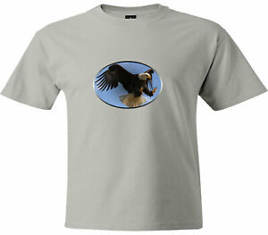 Eagle-flying-bird-sky-animal-gift-t-Shirt-Unisex-Men-Women-Tee-T-Shirt-Graphic