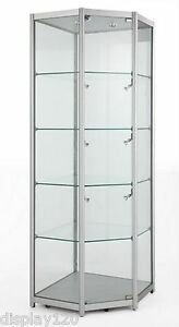 corner display cabinet high class aluminum amp glass corner tower display cabinet 13939
