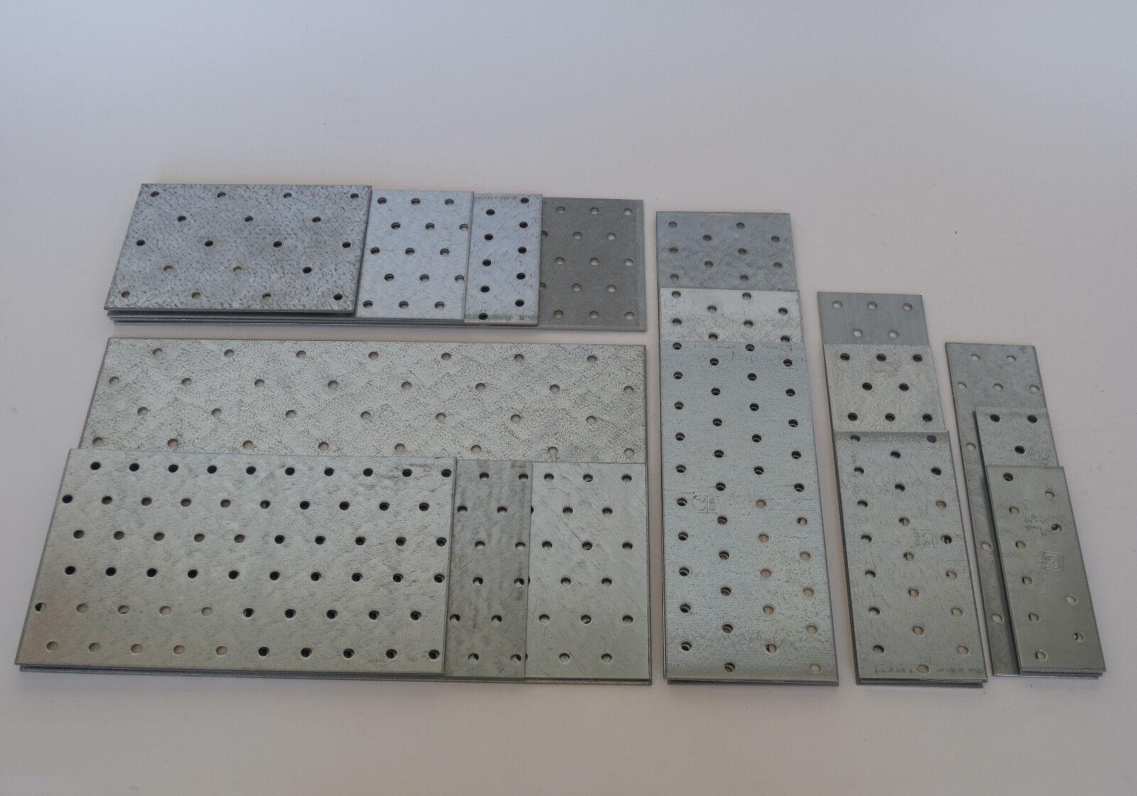 Lochplatten Nagelplatten Holzverbinder Stahl verzinkt 40x115x2 bis 195x300x2 mm