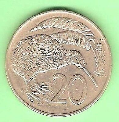 1974  NEW ZEALAND 20 CENT COIN
