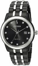 Citizen Eco-Drive Corso Men's Diamond Markers Black 39mm Watch BM7348-53E