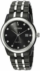 Citizen Eco-Drive Corso Men's Diamond Markers Black 39mm Watch BM7348-53E