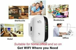 WiFi Range Extender Wireless Internet Signal Booster Network Router for Computer