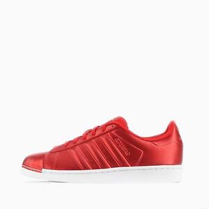 Adidas Originals Superstar Shell Tow Mens Shoes Metallic Red Ebay