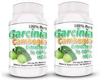 Garcinia Cambogia Extract Pure Powder 60% Hca 2 Bottles 2
