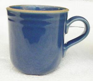 Noritake Set Of 2 Madera Blue Stoneware Coffee Cup Mugs