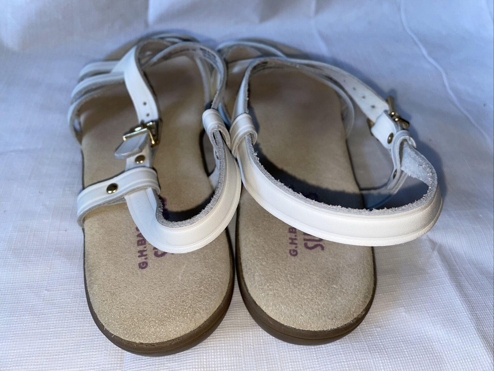 GH BASS Sunjuns Women's White Leather Sandals Str… - image 7