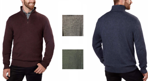 Calvin Klein Men's 1/4 Zip Sweater Variety In Size And Color Men's Clothing Obliging New!