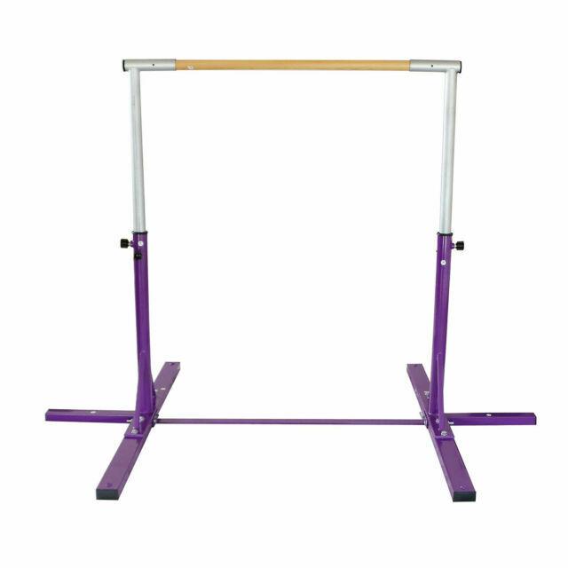 Junior Training Bar Horizontal Gymnastic Bar Indoor Sports Adjustable Purple