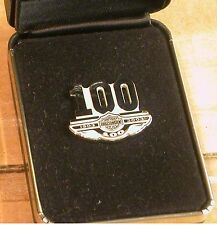 HARLEY DAVIDSON STERLING SILVER 100TH ANNIVERSARY PIN PHASE TWO #3733 OF 5000