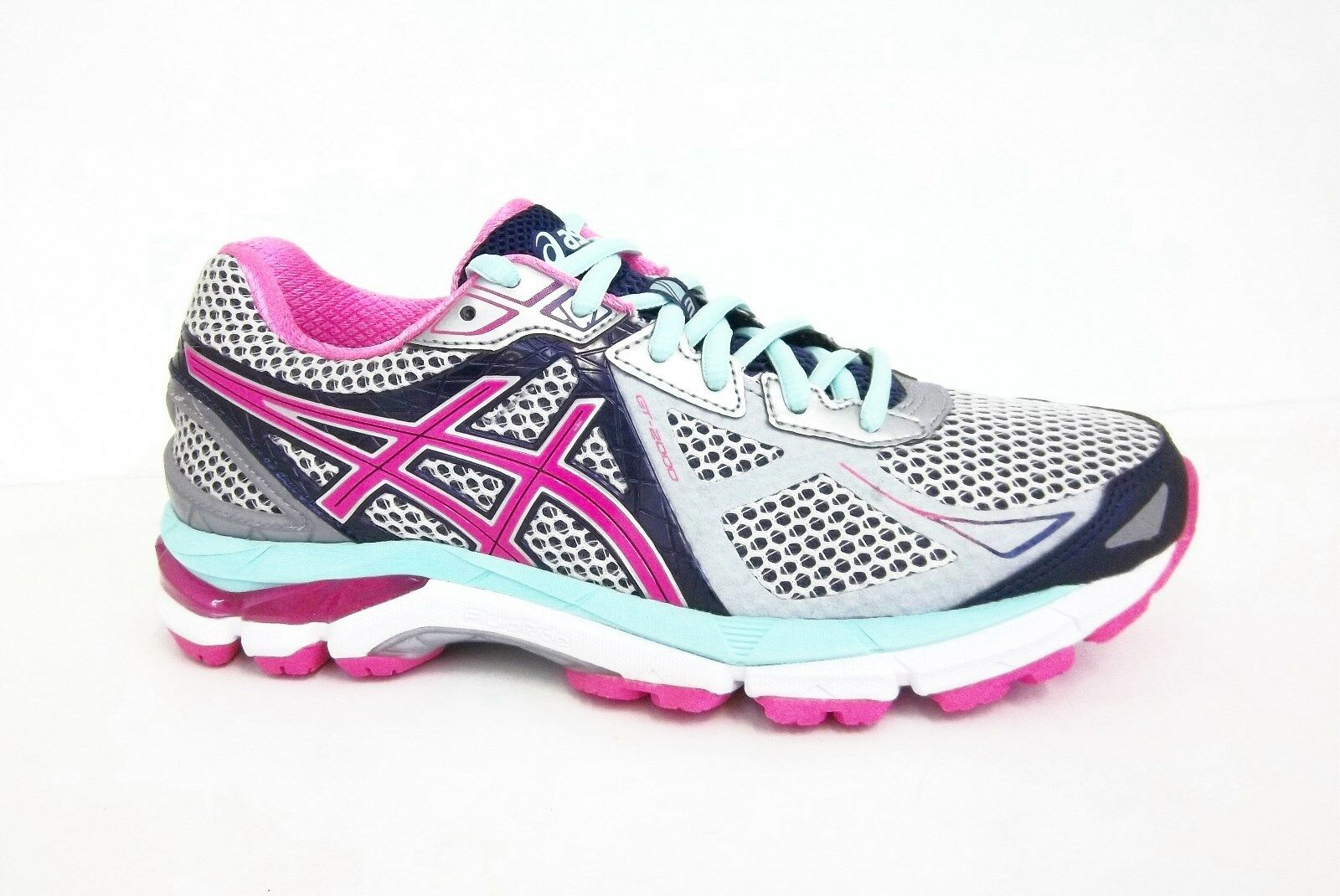 Asics Womens GT-2000 3 Running Shoe Lightning/Hot Pink/Navy Special limited time