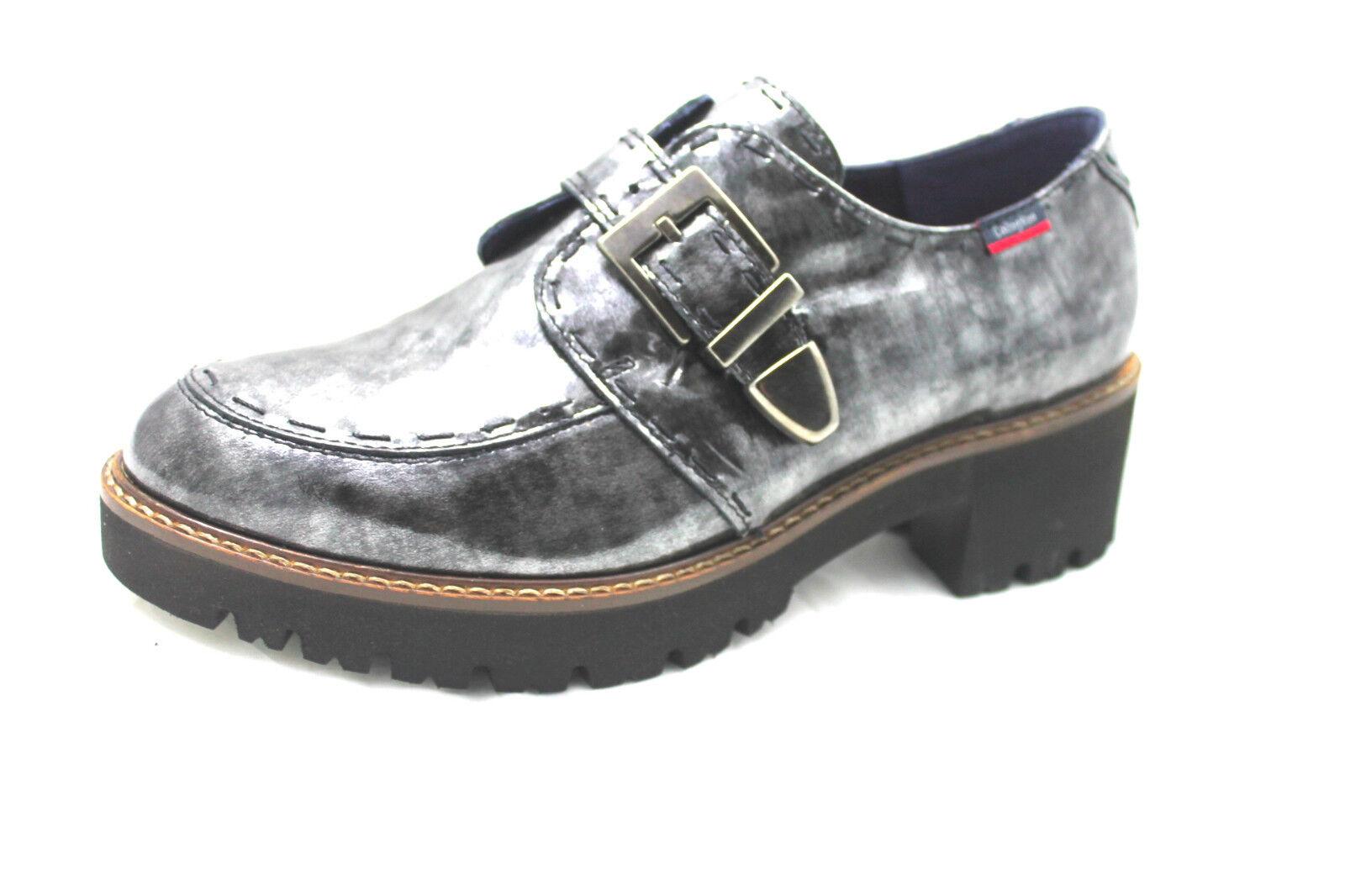 scarpa donna callaghan13420 naplak grigio fibbia  cararmato cm4 light confort
