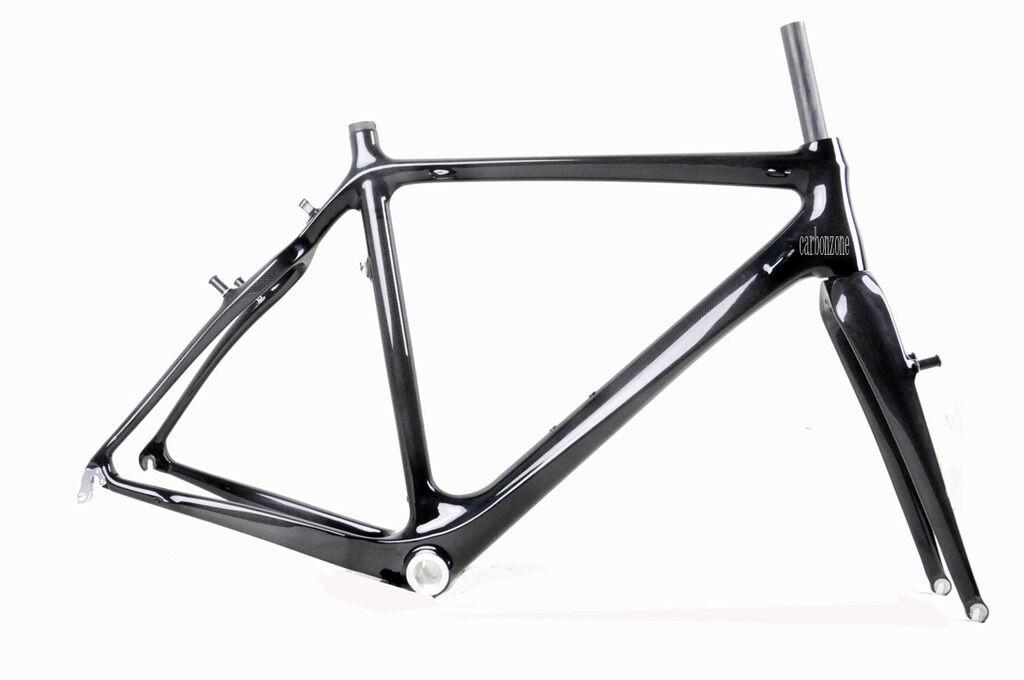 48cm Cyclocross Bike voiturebon Frame Fork Di2 V Brake Internal 3k Glossy Matt BB30