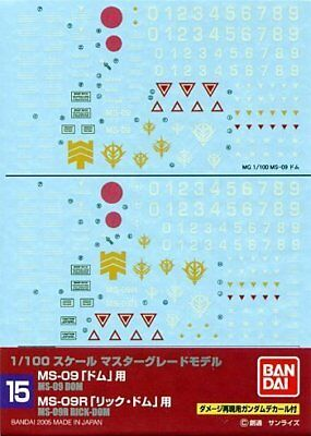#15 Gundam Decal Rick-dom 1/100 Mg Waterslide Decals Vivid And Great In Style Dom