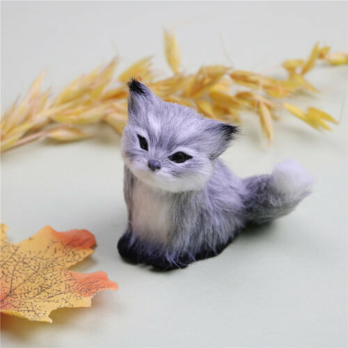 Simulation fox toy polyethylene /& furs squatting fox fox doll home decor GX