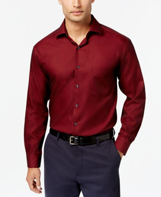 Alfani Red 15-15.5 X 32/33 Regular Fit Men Dress Shirt Performance Salee08