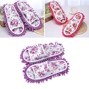 Am-CO-Women-Dust-Mop-Slippers-Microfiber-House-Clean-Slippers-Bedroom-Shoes-Co